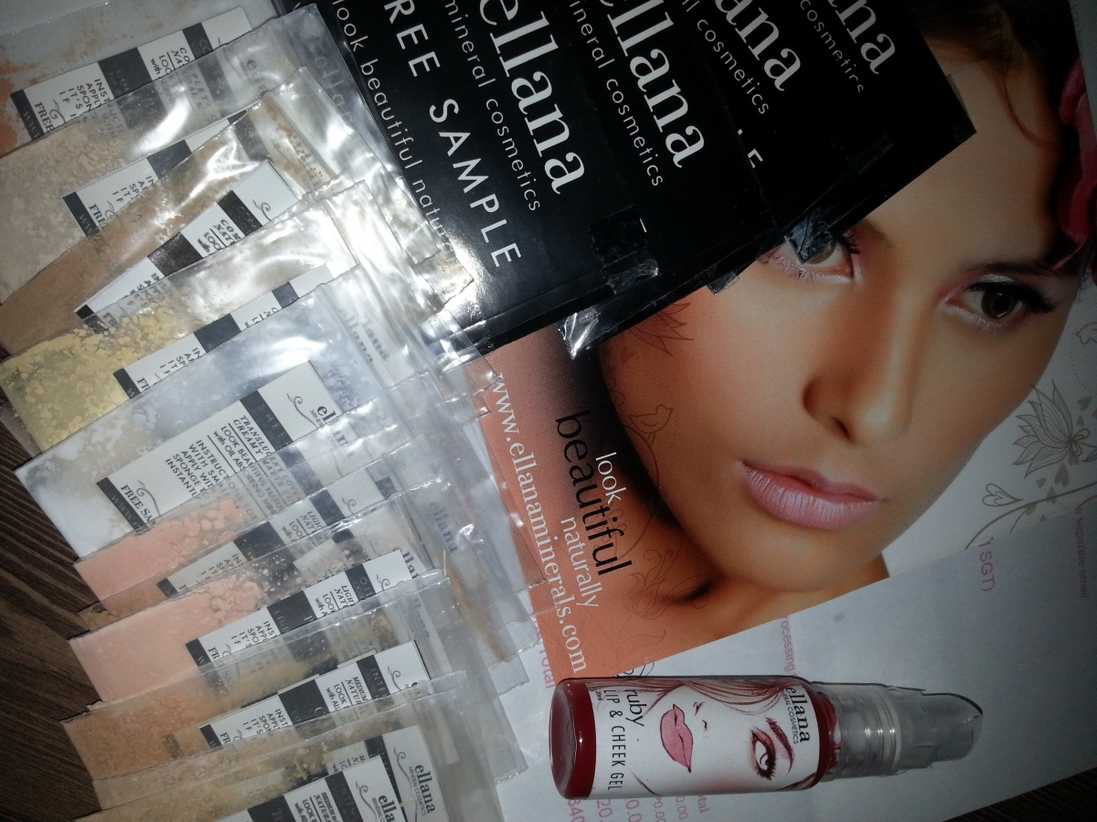 Free Sample Study Set: Free Complete Sample Set From Ellana Minerals Cosmetics