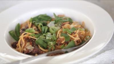 Elsa dela Cruz-Egg noodles fried sardines